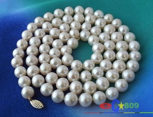 Hot selling free shipping****** AAA 33 11MM WHITE ROUND FW CULTURED PEARL NECKLACEHot selling free shipping****** AAA 33 11MM WHITE ROUND FW CULTURED PEARL NECKLACE