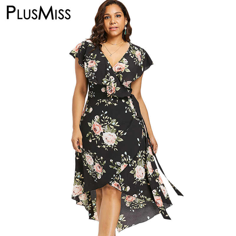 8cc66f759f54f Detail Feedback Questions about PlusMiss Plus Size 5XL 4XL Floral ...