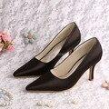 (20 Cores) Preto À Noite Sapatos com Sacos de Harmonização Italianos Sapatos De Noiva Apontou Toe de Salto Alto