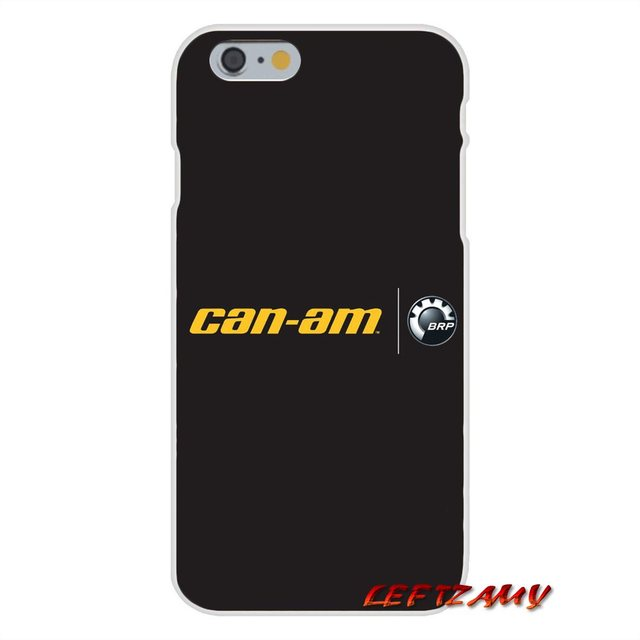 BRP Can Am Can am Team Accessories Phone Shell Covers For iPhone X 4 4S 5  5S 5C SE 6 6S 7 8 Plus-in Half-wrapped Case from Cellphones &