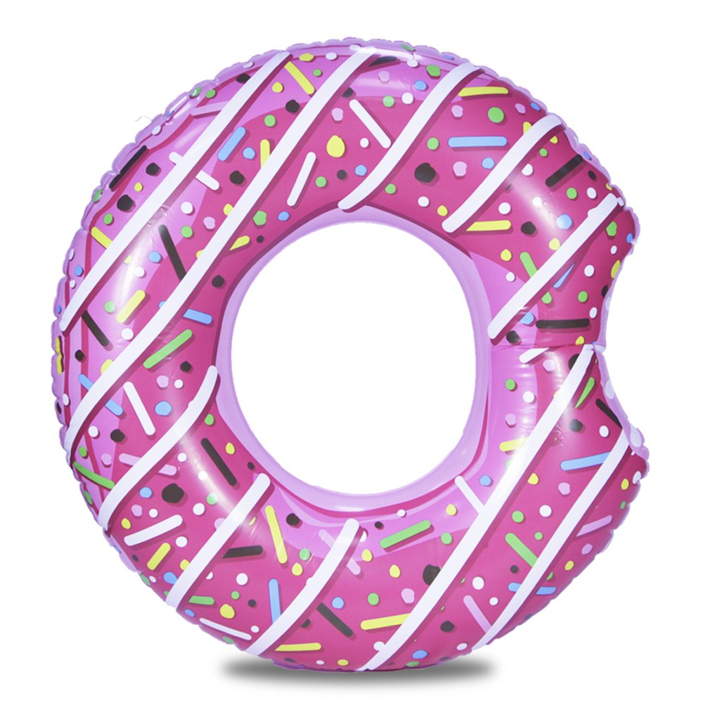 Inflatable Donut Swimming Ring Giant Pool Float Toy Circle Beach Sea Party Inflatable Mattress Water Adult Kid