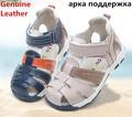 Лето 1 пара мальчик Из Натуральной Кожи Детей Сандалии Ортопедическая, Супер Качество Дети Летняя Обувь