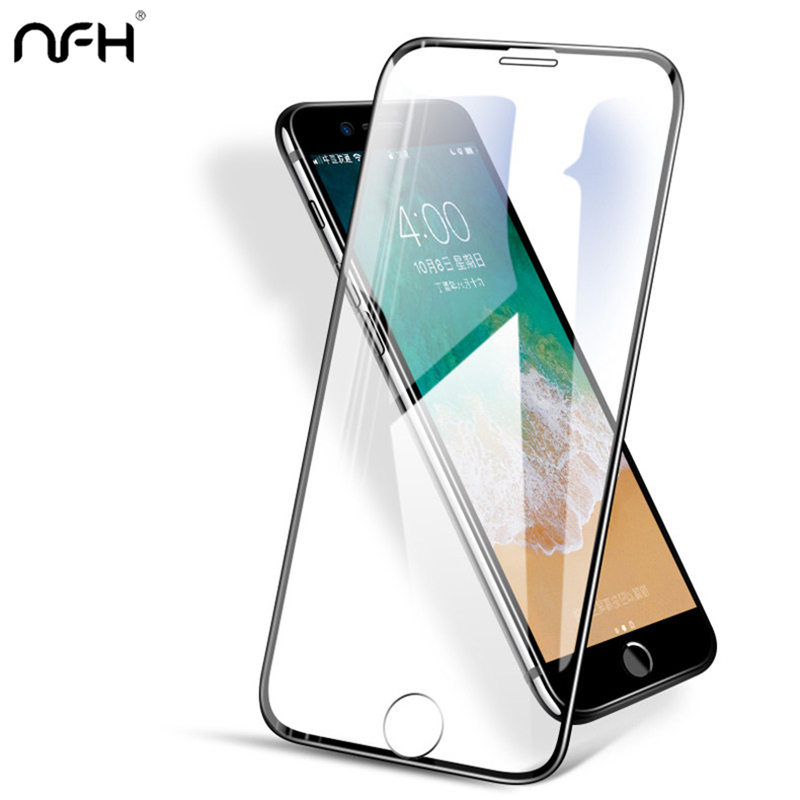 3D Glass For iPhone 7 X 8 6 Plus 3 D 9H Cover Screen Protection Film Full Covered Glass Fo
