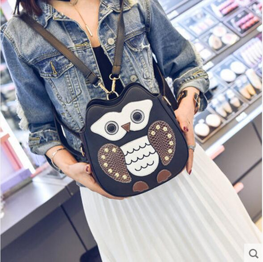 M692 The New Trend In Fashion All-match Satchel Student Cute Cartoon Small Backpack Shoulders Small Size Women Gift Wholesale vn in the summer of 2016 popular american tv drama aegis bureau agents luminous printing logo backpack trend a surprise gift