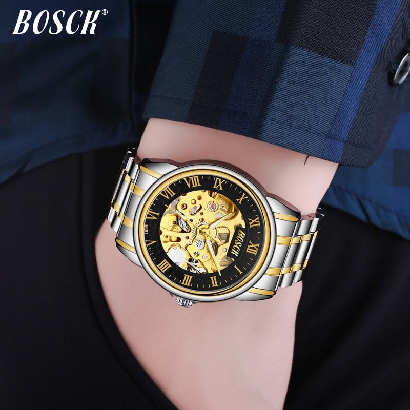 BOSCK Heren luxe gouden waterdicht horloge de nieuwe mode trend - Herenhorloges - Foto 4