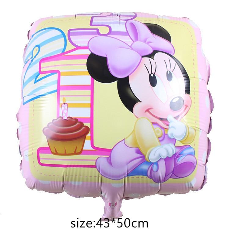 Гигантский мультяшный милый мышонок мультяшный воздушный шар из фольги воздушный шар детский день рождения украшения Классические игрушки подарок мультяшная шляпа - Цвет: 13