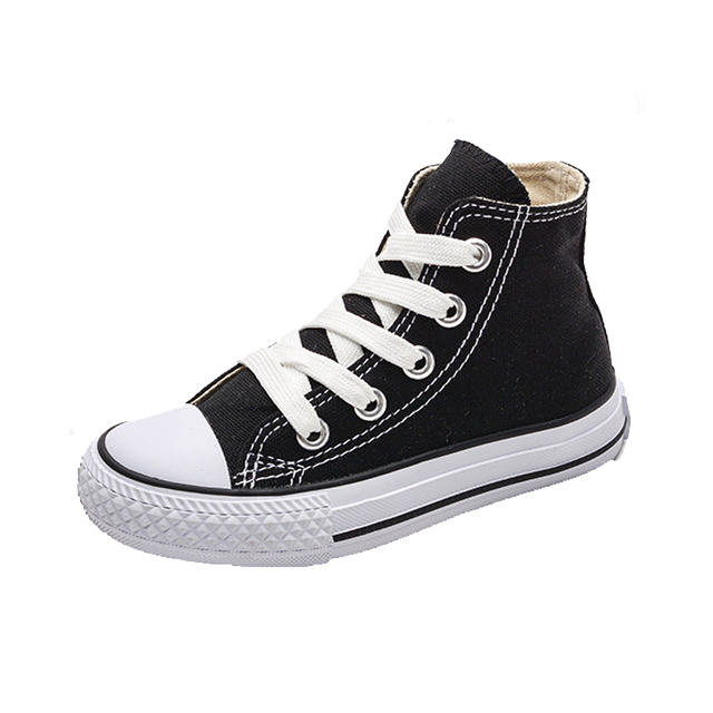 Kids Shoes For Girl Baby Sneakers 2019 Spring Fashion High Toe Canvas Toddler Boy Shoes Children Classical Girls Canvas Shoes 1