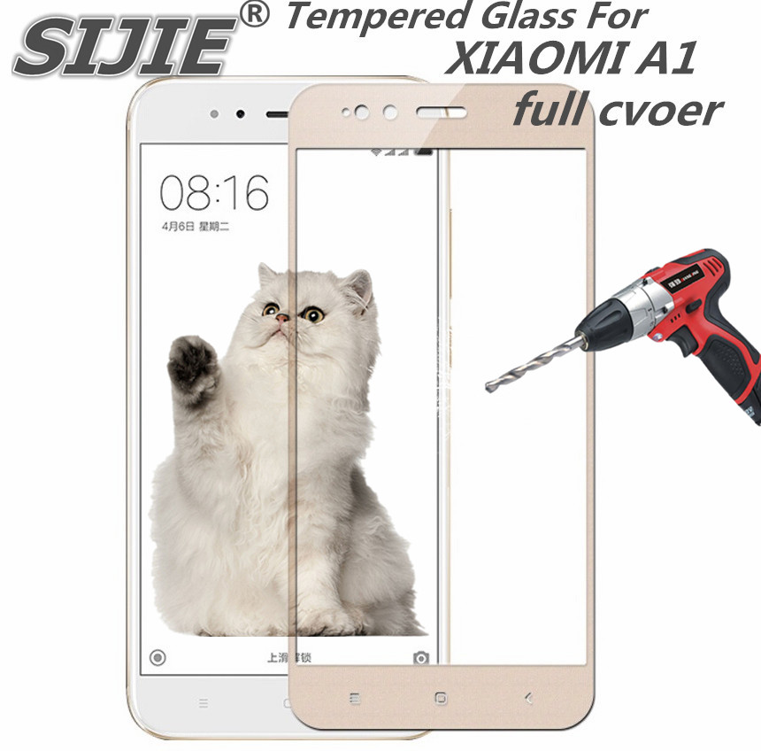 full cover Tempered <font><b>Glass</b></font> For <font><b>xiaomi</b></font> A1 screen protective cover A 1 MI MA1 <font><b>MIA1</b></font> xiaomiA1 5.5 inch smartphone toughened case on image