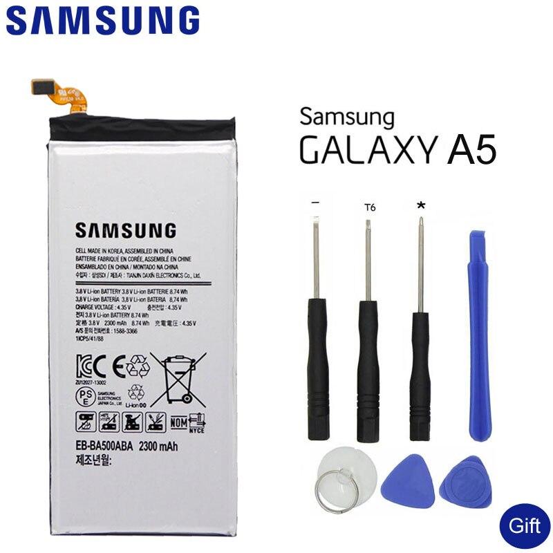 SAMSUNG Batteria Del Telefono Replacementp EB-BA500ABE Per Samsung GALAXY A5 2015 Autentico Origina Batteria Del Telefono EB-BA500ABA 2300 mah