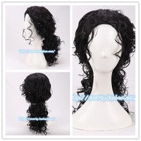 Michael Jackson Cosplay Black Wig Michael Role Play Black Hair Costumes
