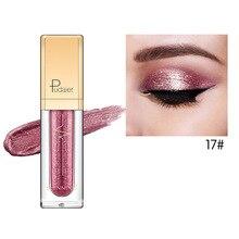 Pudaier 18 Colors EyeShadow Shine Smoky Shadows Eyeshadow Pallete Waterproof Liquid Shimmer Glitter Eyeshadows Cosmetics Makeup