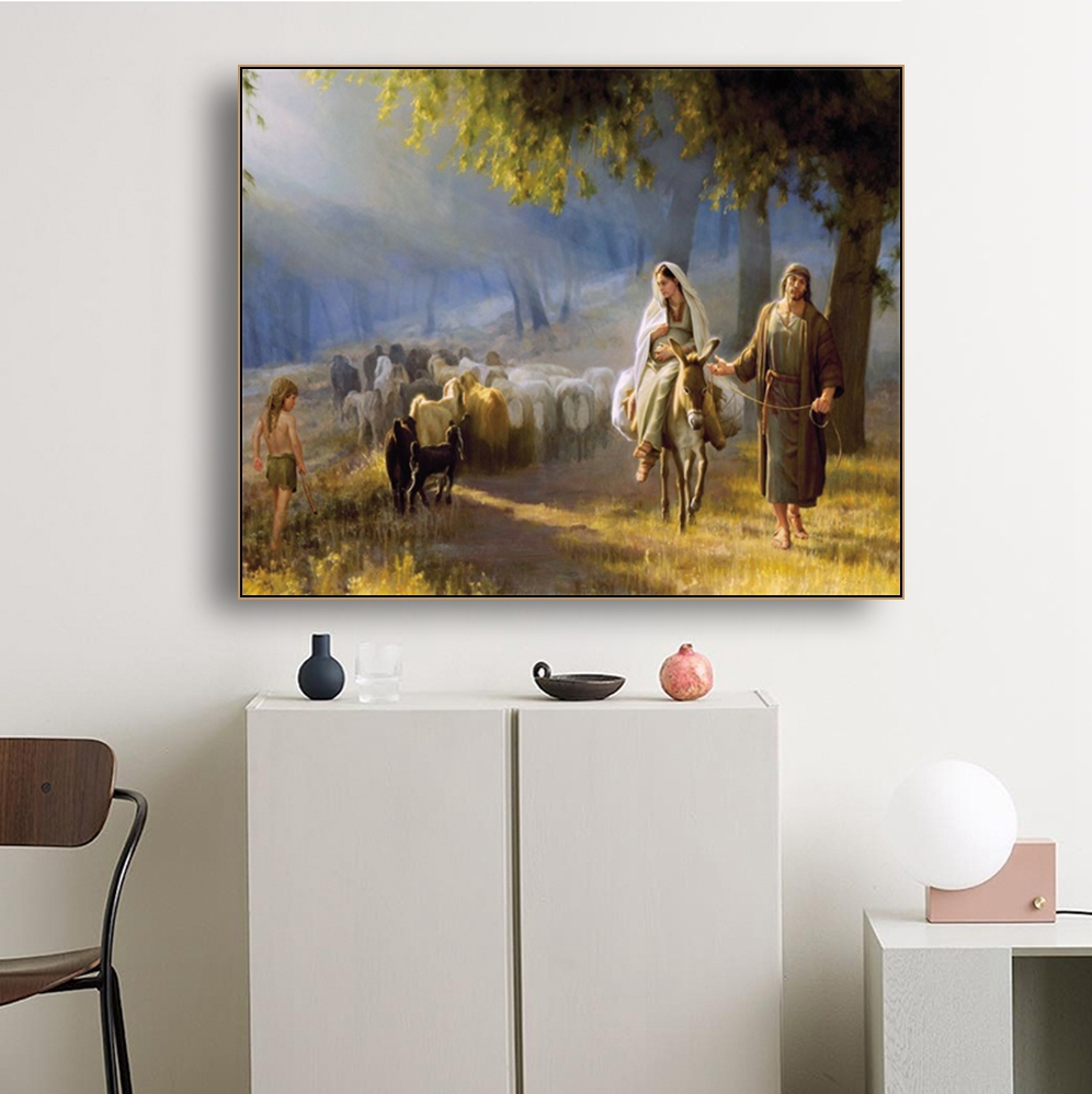 Jesus Christian Famous Canvas Oil Painting Poster Prints Living Room House Wall Decor Art Painting Home Decoration Picture in Painting Calligraphy from Home Garden