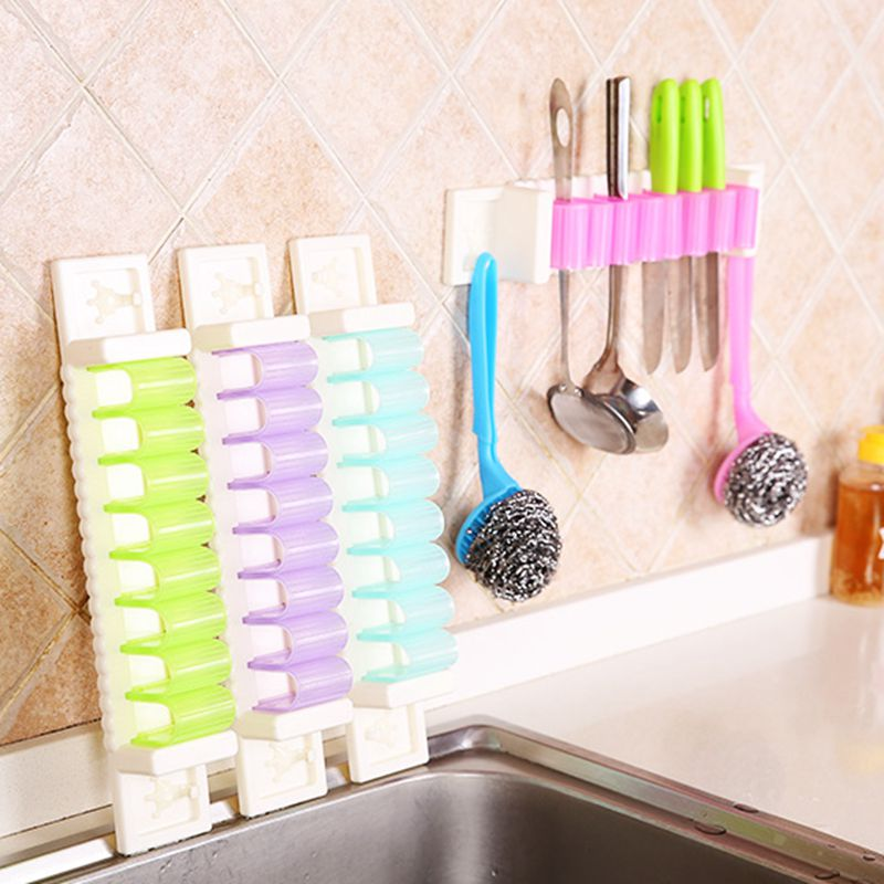 1pc candy color debris storage rack kitchen wall hanging hooks creative bathroom wall hooks office