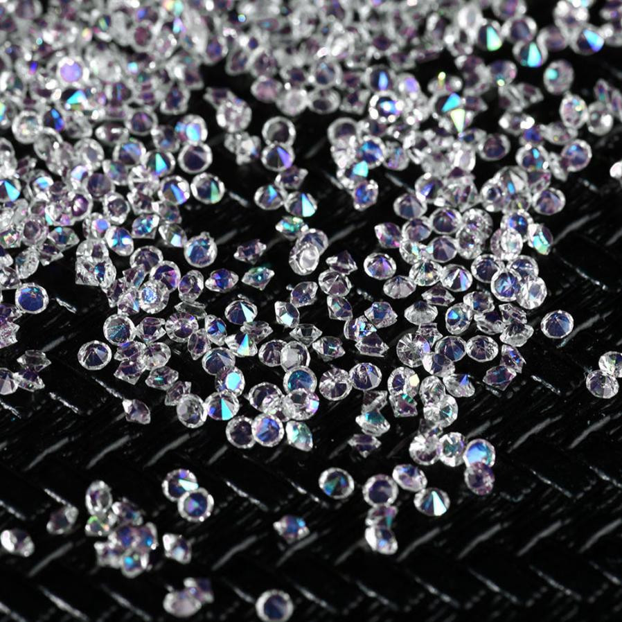 3000Pcs 3MM DIY Diamond Table Confetti Clear Crystal Events Party Accessories .