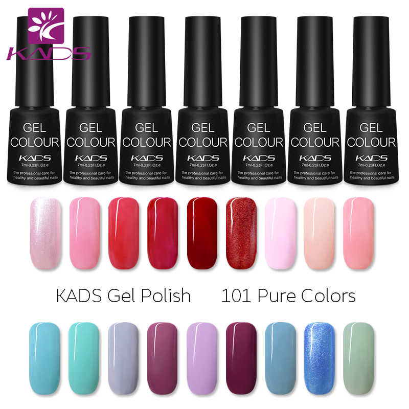 KADS 7ml Del Chiodo Del Gel Smalto Soak Off LED UV Del Gel Del Chiodo Unghie Gel Lacca Unghie artistiche Del Gel di Colla Top strato di Base Vernis semi permanente