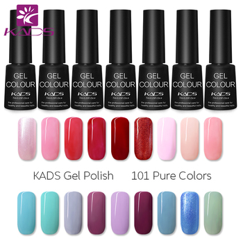 KADS 7ml Nail Gel Polish Soak Off LED UV Gel Nail Polish Nails Gel Lacquer Nail Art Gel Glue Top Base Coat Vernis semi permanent цена 2017