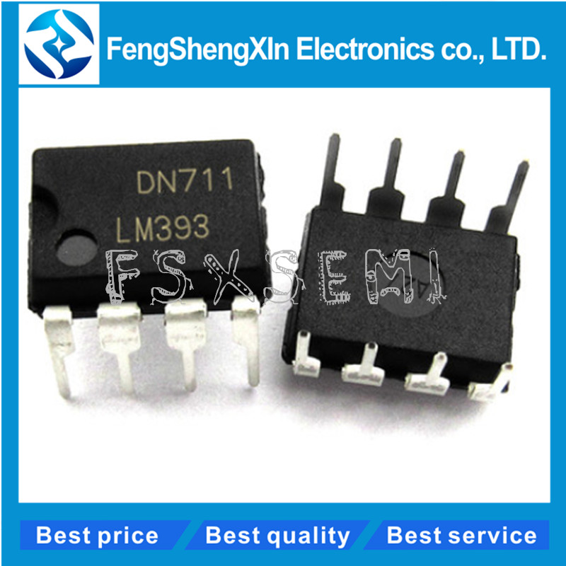50pcs/lot  New  LM393P  LM393N  LM393  DUAL DIFFERENTIAL COMPARATORS    DIP-8