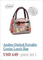 Aosbos moda portátil refrigerador almoço saco térmico