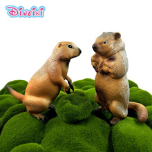 Simulation groundhog forest wild animal model one piece Marmot action figure PVC hot toy Gift For Kids Decoration accessories 1pc super chimpanzee gorillas model ride soft filling cotton action figure oversized diamond simulation animal toy kids gift e