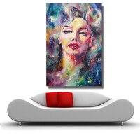 Marilyn monroe pintura a óleo abstrata moderna pintura da parede arte da lona para sala de estar decoração casa sem moldura|canvas art|oil paintingmodern wall painting -