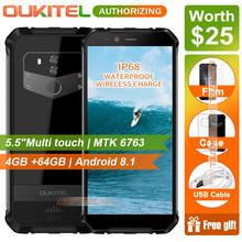 OUKITEL WP1 5.5 inch multi touch HD+Mobie phone MTK6763 4GB RAM 64GB ROM Android 8.1 IP68 Waterproof Smart Phone 5000mAh(China)