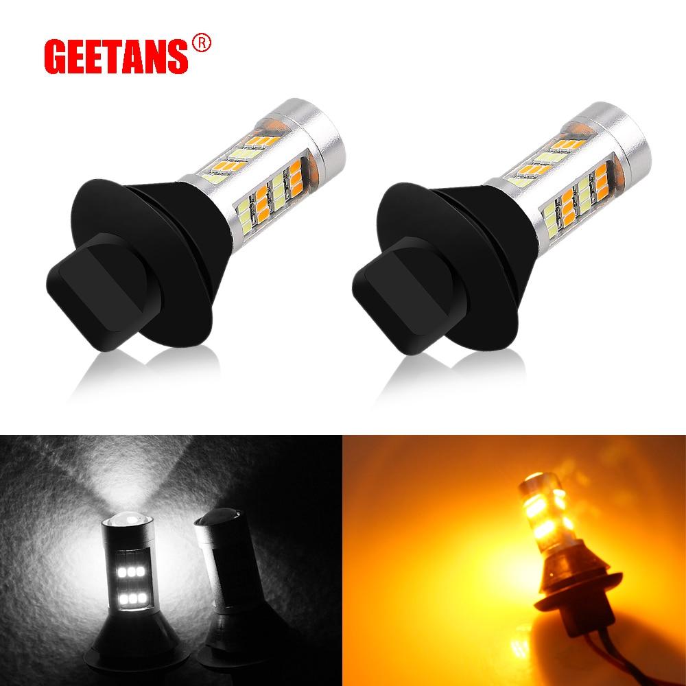 GEETANS 2pcs Bau15s Py21w 1156 1T20 7440 S25 42 LED Tagfahrlicht + Blinker Dual Mode LED-Licht Außenleuchten BE