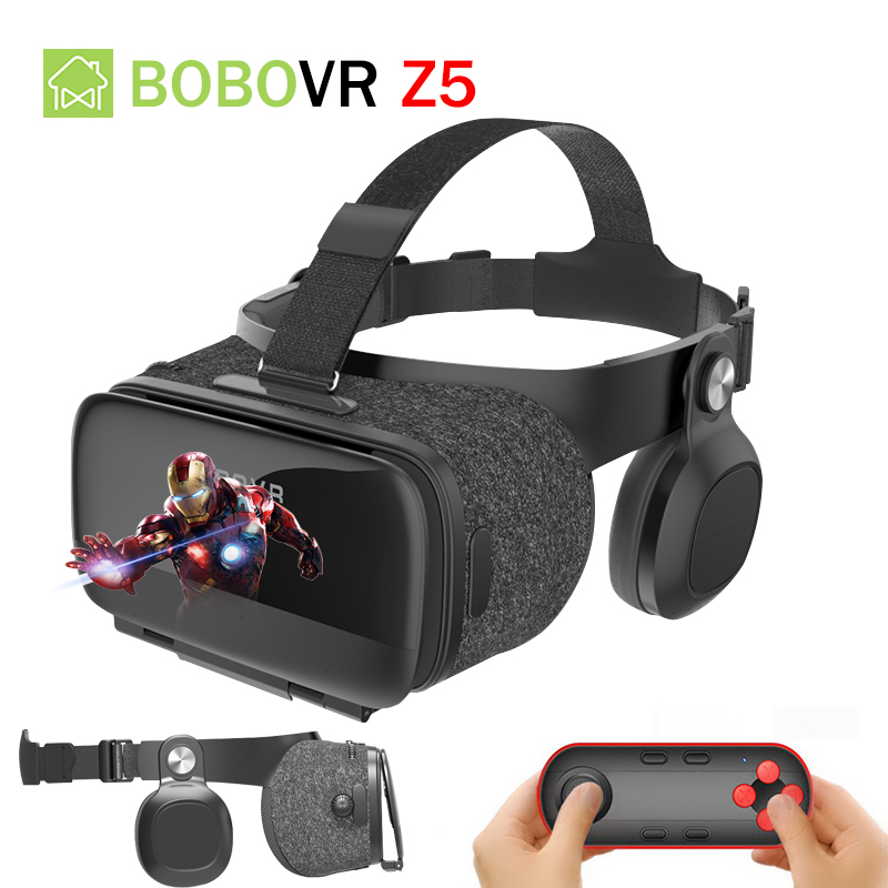Bobovr Z5 3D VR Box Glasses Helmet Virtual Reality VR Headset 120 FOV Glasses Google With Controller For 4.7-6.2'' in Smartphone 2018 new version bobovr z5 youth virtual reality 3d vr glasses cardboard vr 3d headset box for android and ios smartphone 2 0