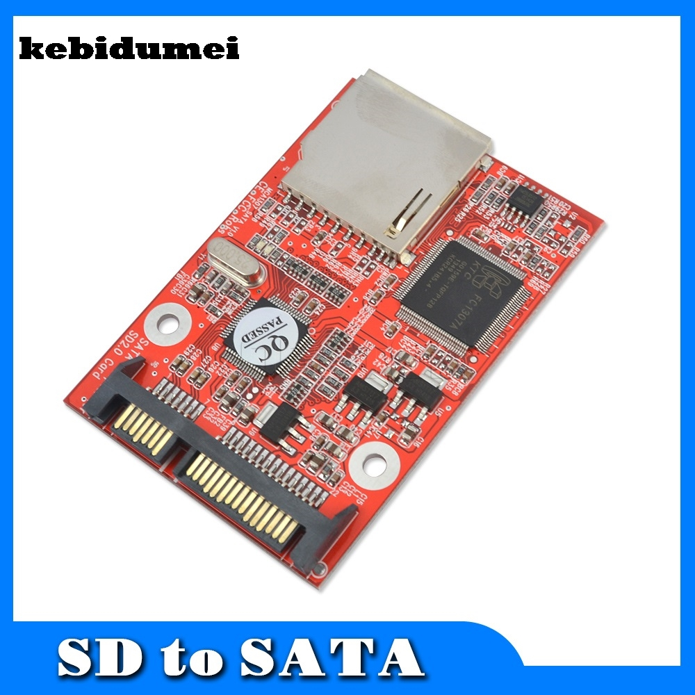 "kebidumei Flash MMC SD SDHC Card To 7 + 15 SATA 2.5 ""HDD Secure Converter Adapter"