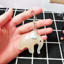 Anime Dumbo Elephant Keychain Women Keyring Cartoon Key Chain Handmade Pendant Ring Men Collection Fans