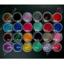 100 г А+++ нейлоновые ворсинки блестят бархатный флокирующий порошок для ногтей для дизайна ногтей оптом 24 цвета на выбор