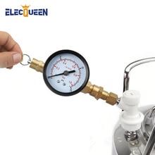 صمام تخفيف الضغط لشاحن ثاني أكسيد الكربون مع مقياس ، صمام ضغط 0 ~ 15 رطل لكل بوصة مربعة مع قفل كروي ملولب للغاز لشاحن برميل الجعة co2
