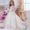 2017 Girls Pageant Dresses Baby Dresses for Girls First Communion Dresses for Girls Appliques Flower Girl Dresses for Weddings