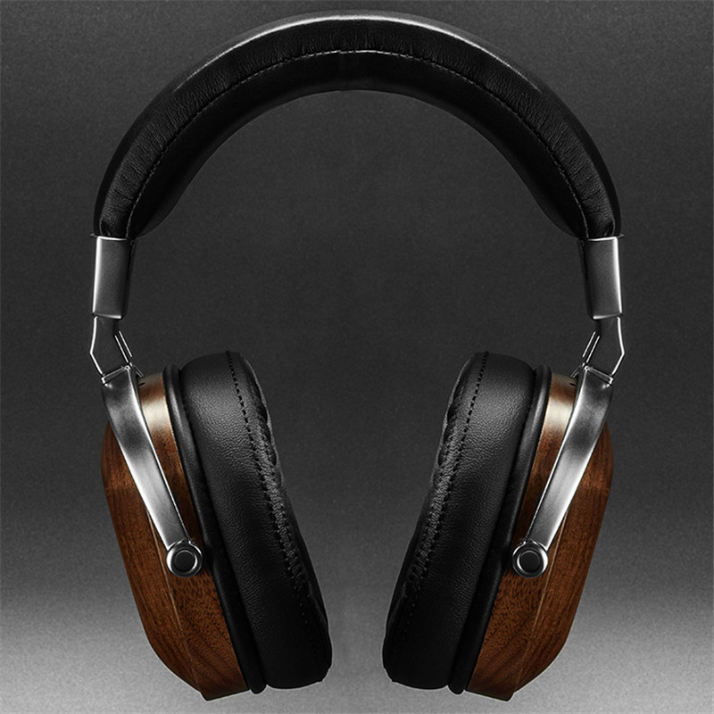 2017 New BossHifi B8 HiFi Wooden Metal Earphone Black Mahogany Headset Headphone With Beryllium Alloy Driver And protein Leather