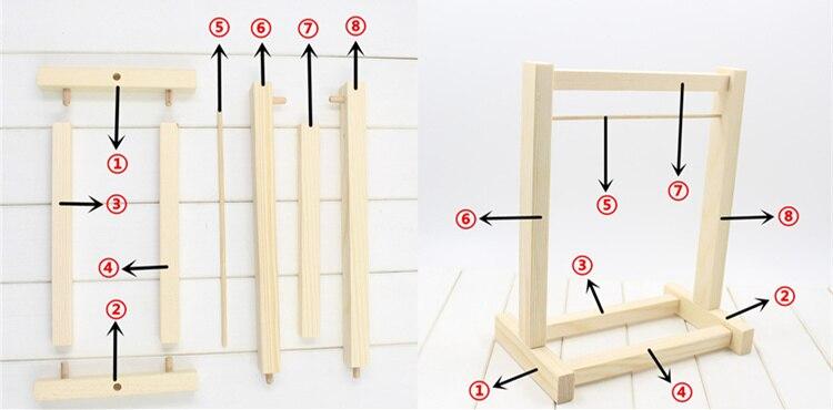 Neo Blythe Doll Metal Hook Shelf Hangers Wooden Wardrobe 1