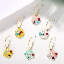 Women Pearl Beach Summer Earrings 2019 Big Maxi Dangle Party Earrings Sweet Lovely Geometry Dangle Earrings faux pearl dangle earrings