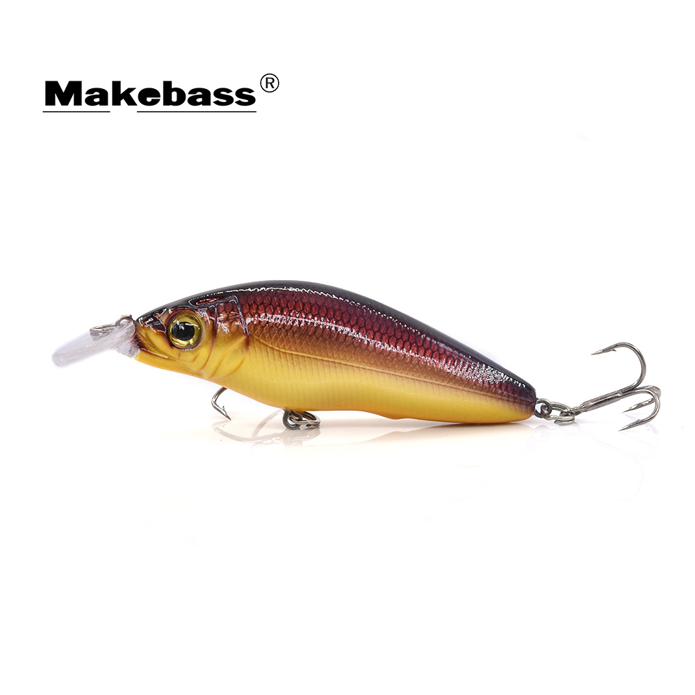 MAKEBASS Bass Fishing Lures Crankbait 6.5cm/8.5g Floating Hard Baits Wobblers Fishing Tackle  For Bass Etc.Pesca Carnada