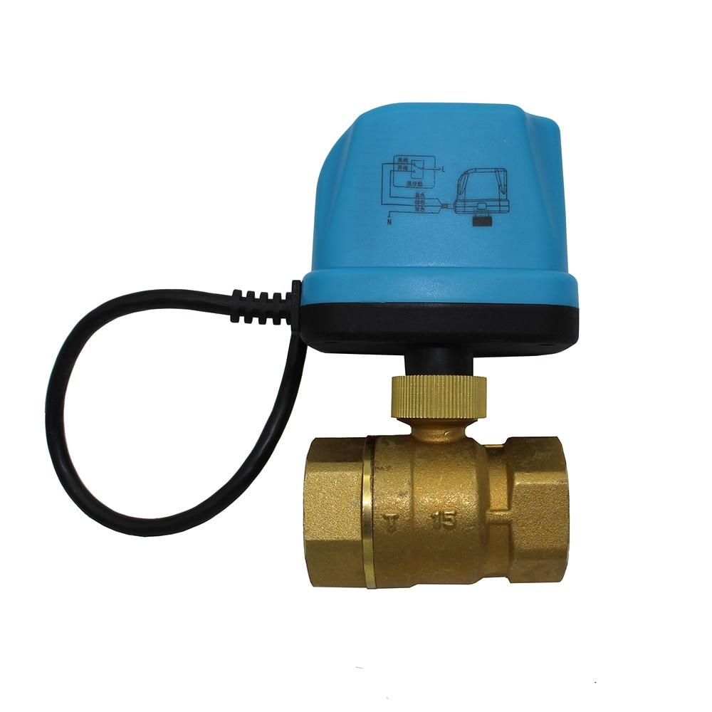 AC220V AC24V electric ball valve electric actuator motorized ball valve 2 way Brass valve DN15 DN20 DN25 DN32 цена