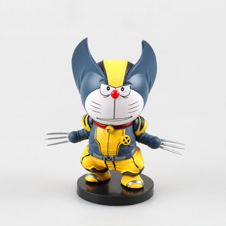 Doraemon Cosplay Wolverine Anime Action Figure Collection toys for christmas gift Free shipping with retail box
