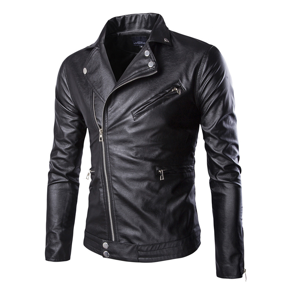 Herobiker Retro Motorcycle Jacket Mens PU Leather Jackets Slim Fit Moto Jacket Punk Windproof Biker Jackets Motorcycle M-5XL