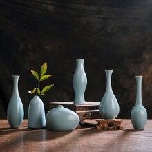 Китайский handmaded малый размер керамическая ваза для цветов для дома и центральные украшения