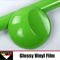 1 52 1m Air Release Quality High Glossy Finish Vinyl Wrap Film Apple Green For Auto