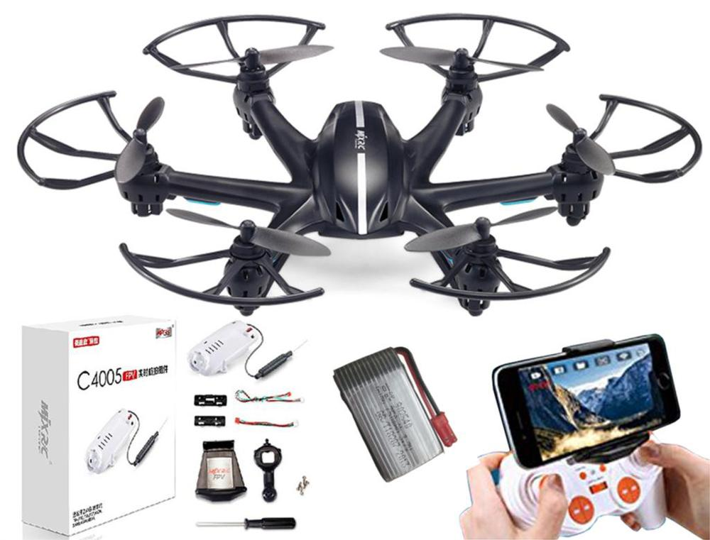 MJX X800 RC FPV Drone HexacopterRFT UAV Headless Helicopter with HD C4005 0.3MP Camera vs MJX X300/X400/X600/X5SW 3pcs battery and european regulation charger with 1 cable 3 line for mjx b3 helicopter 7 4v 1800mah 25c aircraft parts