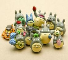 12pcs/set Studio Ghibli Figure Hayao Miyazaki Totoro Garden Decoration Miniatures Terrarium Figurines Anime Action Figures Toys