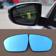 smRKE 2Pcs For KIA K5 2011-2015 Rearview Mirror Blue Glasses Wide Angle Led Turn Signals light Power Heating
