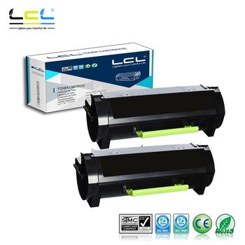 LCL 50F1H00 50F1000 501H 50F2H00 50F2000 502H (2-Pack Black) Toner Cartridge Compatible for Lexmark MS310d/MS310dn