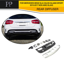 Car Style PP Car Rear Lip Diffuser With Exhaust Muffler For Mercedes Benz GLA Calss GLA260 Sport SUV 2015-2017 Non AMG GLA45