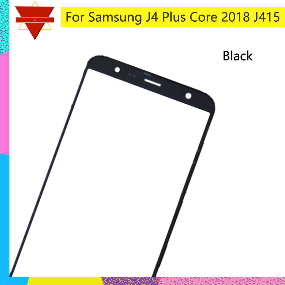 10 cái/lốc Dành Cho Samsung Galaxy Samsung Galaxy J4 + Tặng Kèm Lõi 2018 J415 Cảm Ứng Màn Hình Mặt Trước Kính Bên Ngoài Màn Hình Cảm Ứng Ống Kính Cho GALAXY j4 Core J410