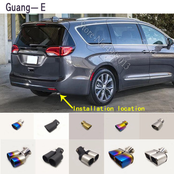 For Chrysler Pacifica 2016-2019 car stickers muffler exterior back end pipe dedicate exhaust tip tail outlet ornament 1pcs 1