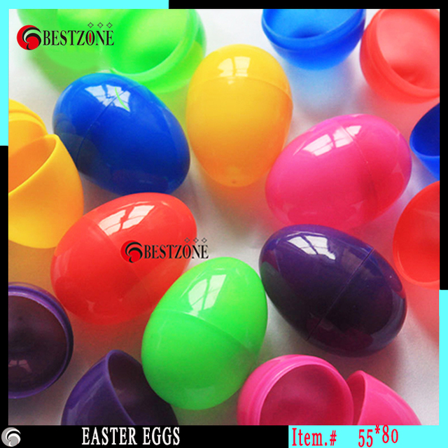 Colorful Plastic Easter Eggs Or Eggshell 5580mm Large Size Candy Box For Children