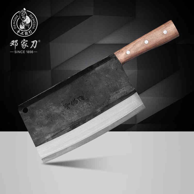 free shipping deng carbon steel forged handmande professional chef knife kitchen cutting meat. Black Bedroom Furniture Sets. Home Design Ideas
